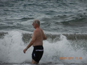 Bruce enjoying the water at Playa Negra