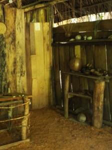 Inside the medicine hut
